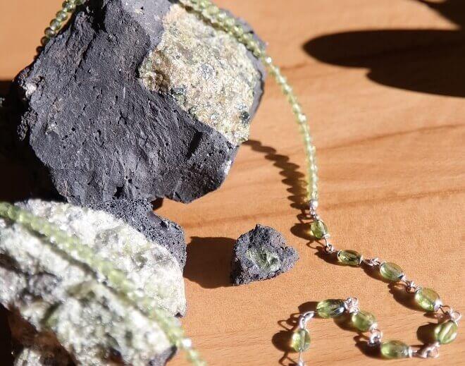 Olivin von Lanzarote und Peridot - Schmuck