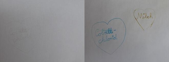 Unsichtbare Tinte: Cobaltchlorid und Milch