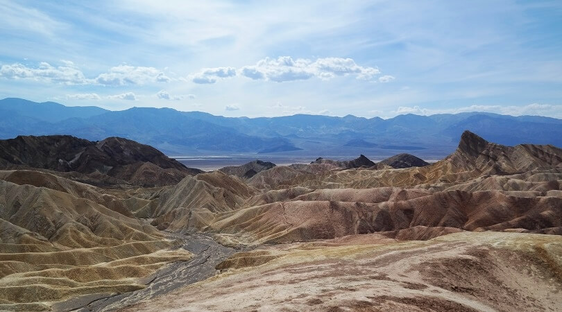 Death Valley : Aussicht vom Zabriskie Point
