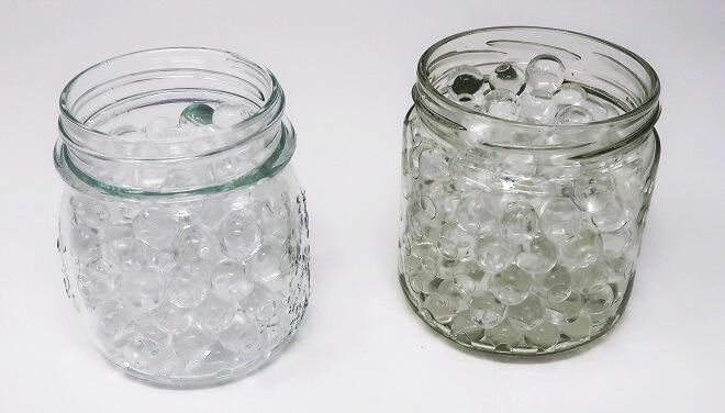 Superabsorber: Hydroperlen bzw. Hydrokristalle nach einer Nacht in Wasser