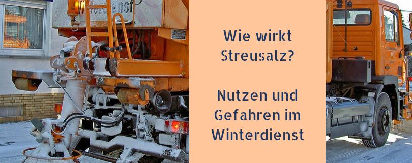 Wie Streusalz wirkt - Nutzen und Gefahren im Winterdienst