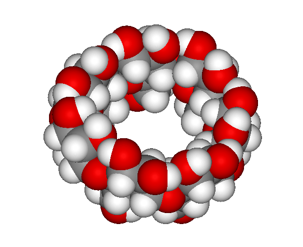 beta-Cyclodextrin als Kalottenmodell
