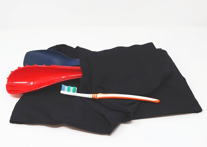 Sporthose, Küchenbesteck und Zahnbürste aus Polyamid