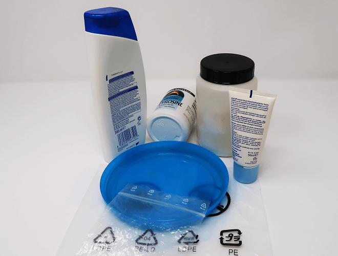 Medikamentendosen, Kosmetikverpackung, Gefrierdose und Folienbeutel aus Polyethylen